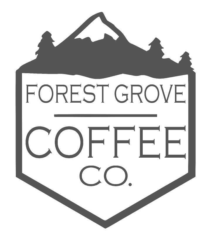 97116 Paint the Town Coffee/Dessert Player logo, Forest Grove Coffee Company